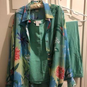 3 piece outfit mint